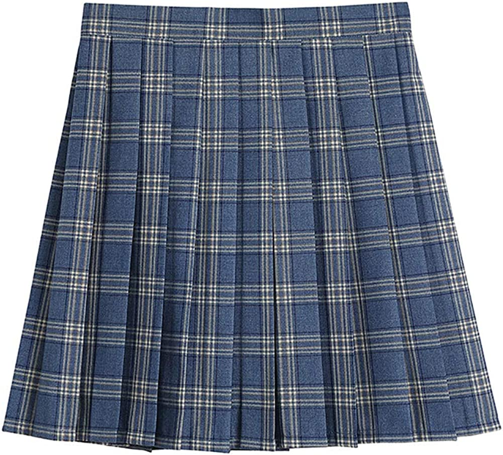 Girls Pleated Kansas New item City Mall Skirt jk Student Casual Uniform Blue Women's