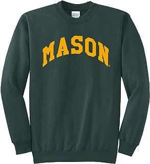 Campus Merchandise NCAA George Mason Patriots Arch Classic Crewneck Sweatshirt, Dark Green, Medium