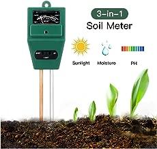 ROTTAY Soil Tester 3-in-1 Plant Moisture Sensor Meter Light PH Soil Test Kit for Garden Lawn Farm Plants Herbs Indoor/Outdoor Plant Care Soil Tester-No Battery Needed