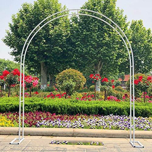 ZH-1 Rosenbogen Metall Rankhilfe Rosen Pflanzen, Große Torbogen Garten pulverbeschichteter Stahl, 230cm hoch, 140 cm /200cm breit, Schwarz Weiß