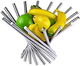 Niguleser Panier à Fruits, Corbeille à Fruits Design en Acier Inoxydable, Organisateur de Rangement de Cuisine Créatif pou...