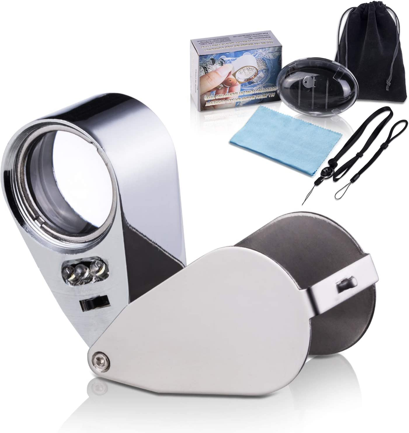 Wanapure 40× Metal Jewelry Loop Limited time for free shipping Eye Loupe Max 51% OFF Jewelers Magnifier