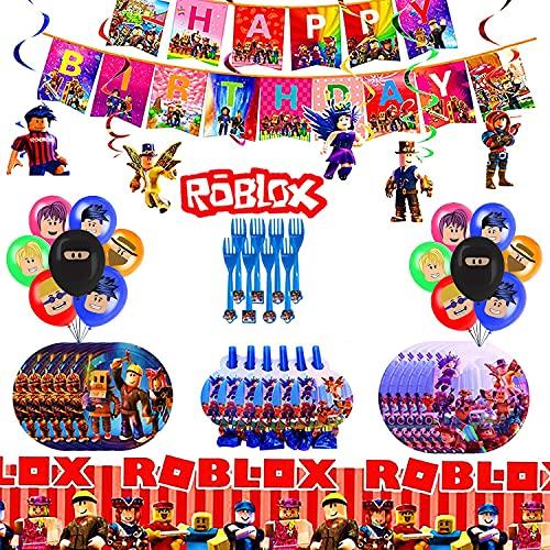 WOJIM - Roblox Decoraciones de Fiesta de cumpleaños,Fiesta Temática Roblox Decoraciones,Decoraciones para Cumpleaños