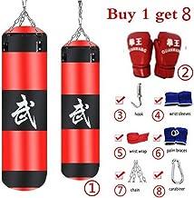 GZ HaiQianXin Entrenamiento de Boxeo Saco de Arena vac/ío Resistente al Desgaste Lucha Fuerte Golpe de Karate Saco de Arena Saco de Arena Gancho de Cadena de Metal