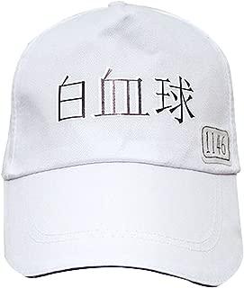 Anime Hataraku Saibou Cells at Work Cosplay White Blood Hat Red Baseball Cap