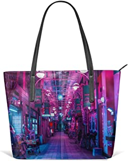 Entrance to the next dimension Leather Tote Large Purse Shoulder Bag Portable Storage HandBags Convenient Shoppers Tote