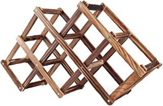 Porte-bouteille de vin Cabinet Support Bouteille de vin en bois Porte Countertop pliable pour la maison Cuisine Armoires B...