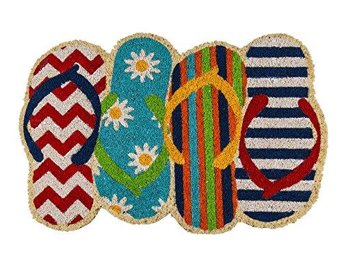 Bavaria Home Style Collection Fussmatte - Fußmatte - Türfußmatte - Fußabstreifer - Fußabtreter - Türmatte - Motivfußmatte - Fußmatte - Kokos - Kokosfussmatte - Badelatschen - Badeschuhe