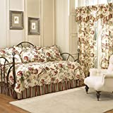 Waverly Charleston 5-Piece Quilted Reversible Comforter Day Bed Cover Set, Papaya,