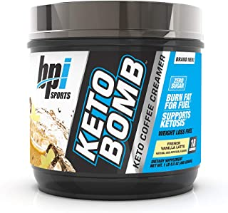 BPI Sports Keto Bomb – Ketogenic Coffee Creamer – Supports Weight Loss, Energy, Hydration, Performance – Contains MCTs & E...