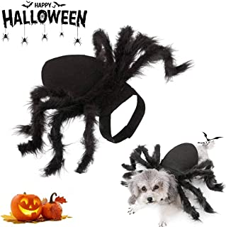 Spider Dog Costume, Pet Halloween Cosplay Costumes for Cat Dog, Funny Party Dress up Accessories Large 853CX-FT908087-Large
