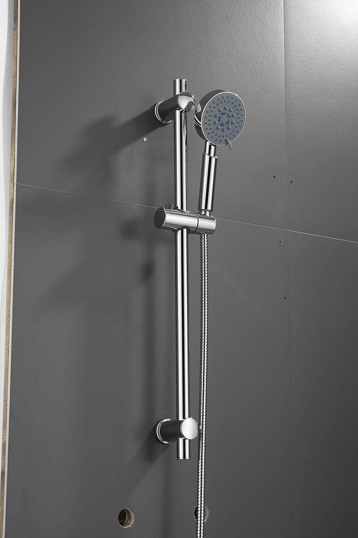 Adjustable Chrome Bathroom List price Shower Head Rail Complete Free Shipping Bracket Riser Holder