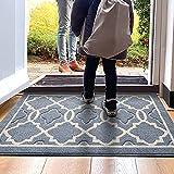 DEXI Indoor Door Mat, 32'x20' Non-Slip Low-Profile Entrance Rug, Absorbent Machine Washable Front...