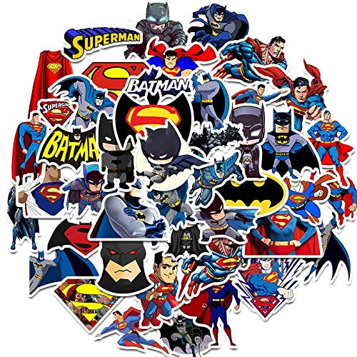 FENGLING Super Hero Superman Batman Stickers Graffiti Stickers For Luggage Skateboard Phone Loptop Bicycle Wall Guitar Scrapbooking45Pcs