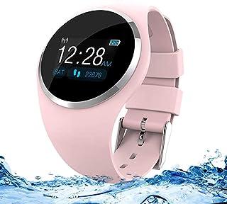 DW.HQ Reloj Inteligente, rastreador de Ejercicios, Reloj Inteligente Bluetooth Masculino y Femenino, presión Arterial, frecuencia cardíaca, Detector de sueño, Reloj Deportivo con Contador de calorías