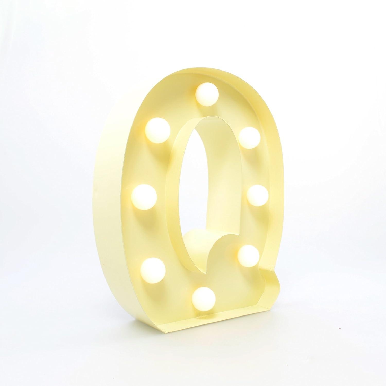 Carnival Letter Lights Vanilla  Q