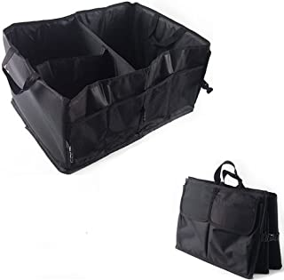 NIKAVI Car Boot Organizer, Auto Car Trunk Tidy Bag, Collapsible Storage Box, Fold-able Multi-use Tools (Black)