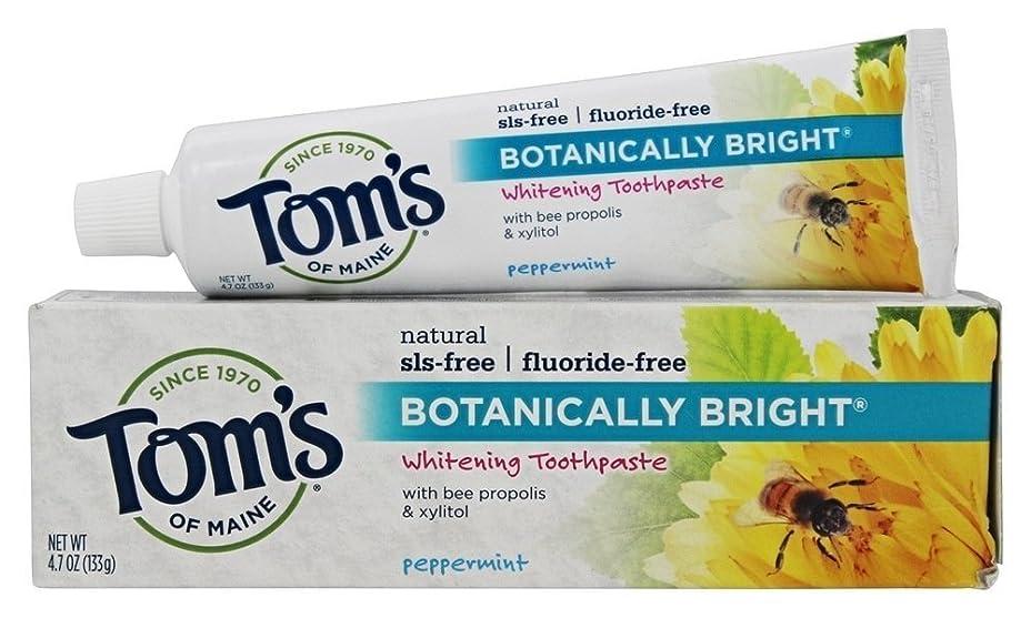 ジョグ象郵便屋さんBotanically Bright Whitening Toothpaste Peppermint - 4.7 oz - Case of 6 by Tom's of Maine