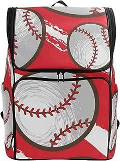 Laptop Backpack Bright BaseballGym Backpack for Women Large Backpacking Bookbag