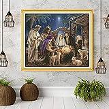 El nacimiento del bebé Jesús patrones, kits de Aida lienzo de punto de cruz, bordado de la costura Set, decoración casera Enviar herramientas accesorias