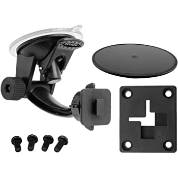 ARKON Windshield Dash Suction Car Mount for XM and Sirius Satellite Radios Single T and AMPS Pattern Compatible, Black - SR114