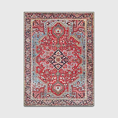 LLZY Teppiche Perser Vintage-Teppich for Wohnzimmer Schlafzimmer Mat Griffige Vorleger Absorbent Boho Marokko Ethnic Retro Teppich 160x230 (Farbe : F, Größe : 100x160cm)