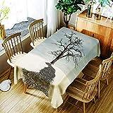 XXDD Mantel Creativo 3D Ciervo Sika y Colorido patrón de Flores Mantel cómodo Mantel Impermeable hogar A10 140x160cm