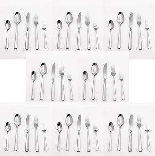 40 Piece Silverware Cutlery Set, Dishwasher Safe, Ergonomic Design Size and Weight (Silver, 40-Piece)