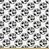 ABAKUHAUS Fußball Stoff als Meterware, Lustiges