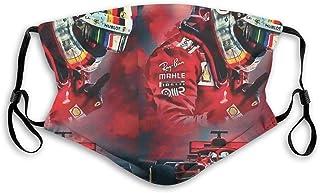 Teemoo Mundschutz Vettel F1 2020 Scuderia Gedruckter, wiederholbarer Staubschutz für den Außenbereich für Unisex, M.
