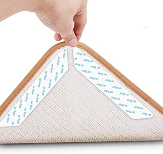 LEHII Rug Grippers Rug Grippers Keep Your Carpet and Flatten The Corners. Premium Carpet Fixture with Reproducible Grip Belt - Ideal Anti-Slip Carpet Mat for Your Carpet