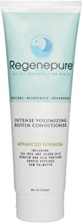 Regenepure Intense Volumizing Hair Loss Conditioner with Biotin, Add Volume to Hair and Repair Brittle Hair, 8 oz.