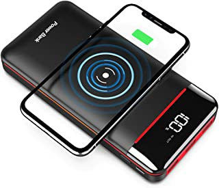 Wireless Portable Charger 25000mAh Power Bank with 3 Outputs& 2 Inputs Huge Capacity Backup Battery with LCD Display, Comp...