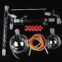 دستگاه تقطیر شیشه ای 1000 میلی لیتری جدید ، 13 عددی ، تجهیزات تقطیر خلاuum ، کیت ظروف شیشه ای آزمایشگاه شیمی