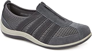 Pavers Womens Casual Zip Up Shoes Mesh Upper Trainers