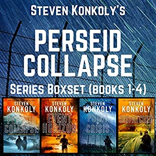 The Perseid Collapse Series Boxset     Books 1-4              By:                                                                                                                                 Steven Konkoly                               Narrated by:                                                                                                                                 John David Farrell                      Length: 37 hrs and 55 mins     30 ratings     Overall 4.4
