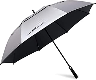 G4Free 62/68inch UV Protection Golf Umbrella Auto Open Vented Double Canopy Oversize Extra Large Windproof Sun Rain Umbrellas