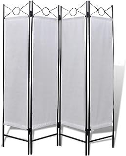 Vislone Plegable Biombos Clásico Diseño 4-Panel Biombo Divisor Separador de Habitaciones Espacios Divisoria 160x180x1,5cm