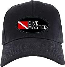 CafePress Diving: Diving Flag & Dive Master Black Cap Baseball Hat, Novelty Black Cap