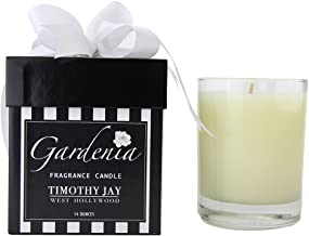 Timothy Jay Candles Classic 14 Ounce Long-Burning Gardenia Fragrance Soy based wax
