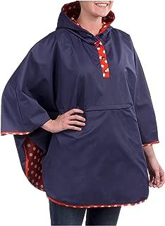 Women's Reversible Packable Travel Rain Poncho