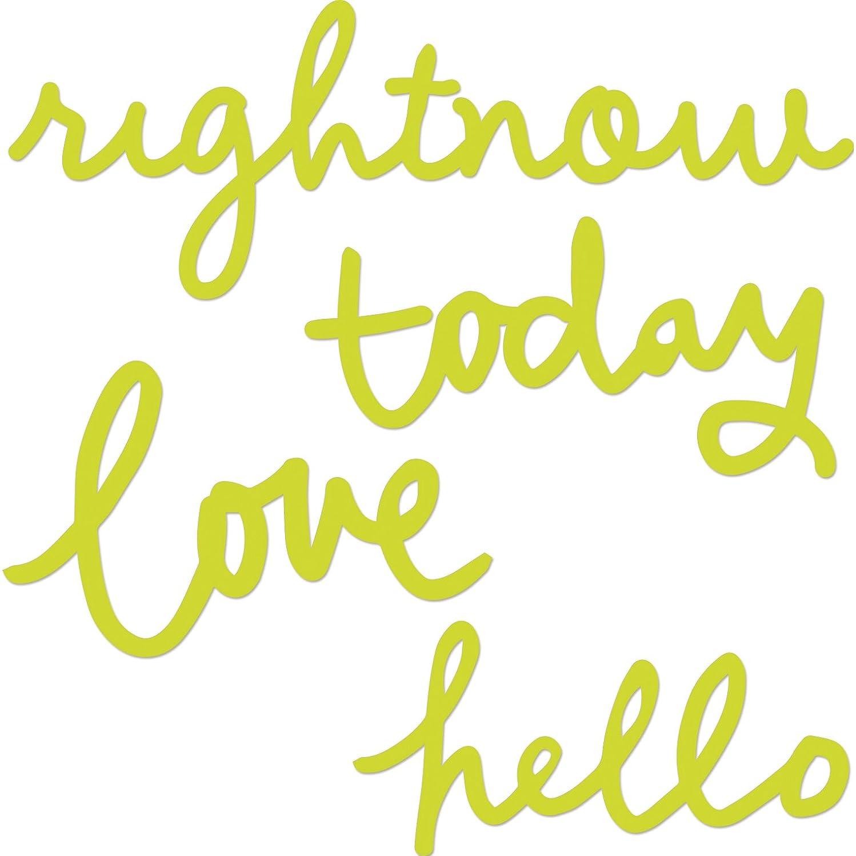 Kaisercraft Dies-Hello, Love, Today, Rightnow To 5x1.75