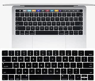 New MacBook Pro 13 15インチ 2016 / 2017 Touch Bar搭載モデル キーボードカバー【MaxKu】 キーボード防塵カバー USキーボード 英語配列 キースキン 多色選択可能 (対応モデル:MacBook Pro 13 15 Touch Bar搭載モデル A1706 A1707) (ブラック)