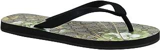 Bloom Print Black/Green Canvas/Rubber Flower Thong Sandal 283029 1083