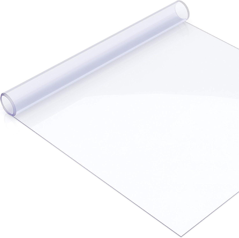 vidaXL Tischfolie Transparent 160x90cm 2mm PVC Tischdecke Tischschutz Folie