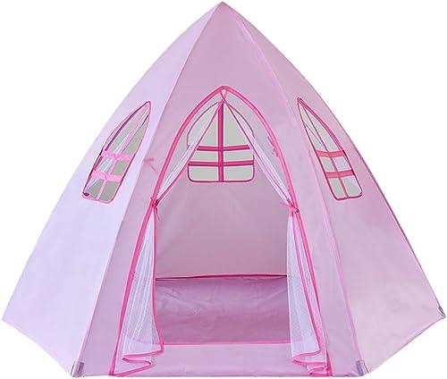 Home experience- Prinz oder Prinzessin Sommer Kinder Sechseck Spiel Zelt Haus Krabbeln Indoor oder Outdoor Garten Kinder Spielzeug Strand Sonne Spielhaus Jungen mädchen (176x176x124 cm)