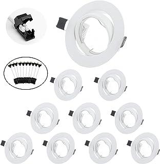 BOJIM spot encastrable GU10 Set, cadres de montage en blanc pour spot encastrable 68mm Avec Douille GU-10 Pour Lampes, Ori...