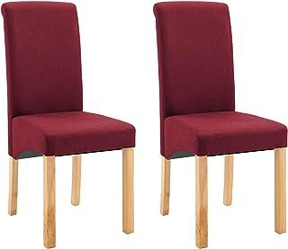 pedkit Sillas de Comedor Sillas Cocina Sillas Salon 2 Unidades de Tela roja
