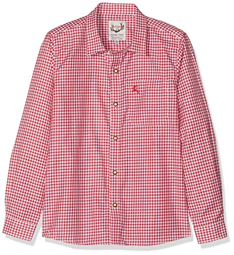 Stockerpoint Jungen Hemd Dave Jr. Trachtenhemd, Rot (Rot Rot), 146-152