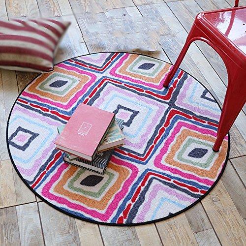 NAN&Carpettes Tapis rond de tapis d'ordinateur Tapis de chevet de salon rond Durable (Couleur : 3, taille : 150cm)